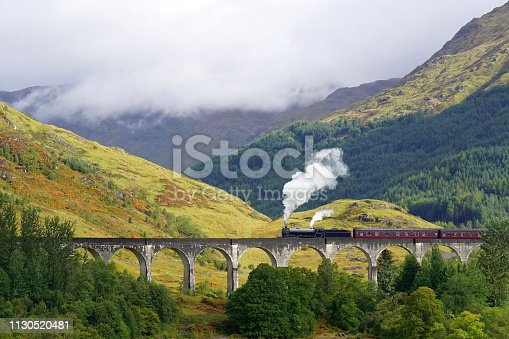 Glenfinnan Viaduct, The Jacobite steam train, Hogwarts Express, Scotitsh Highlands