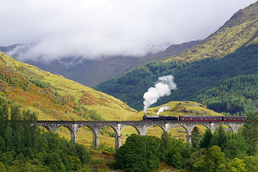Glenfinnan Viaduct, The Jacobite steam train, Hogwarts Express, Scotitsh Highlands
