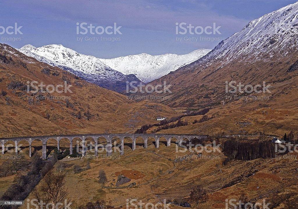 Glenfinnan Viaduct Highlands of Scotland stock photo
