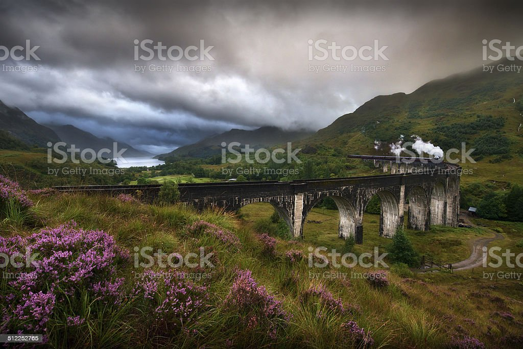 Glenfinnan Viaduct, Scotland stock photo
