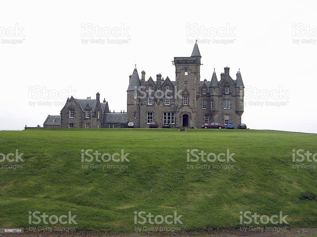 Glengorm Castle stock photo