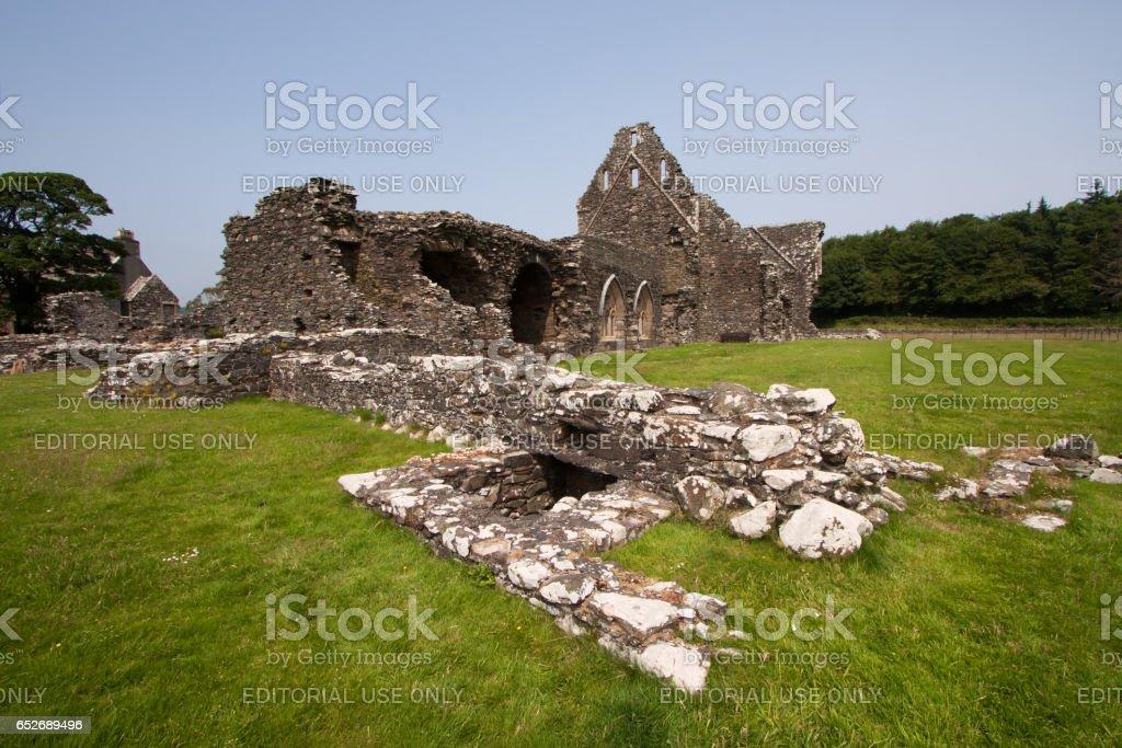 Glenluce, Dumfries and Galloway, Scotland - July 12, 2013: Glenluce Abbey stock photo