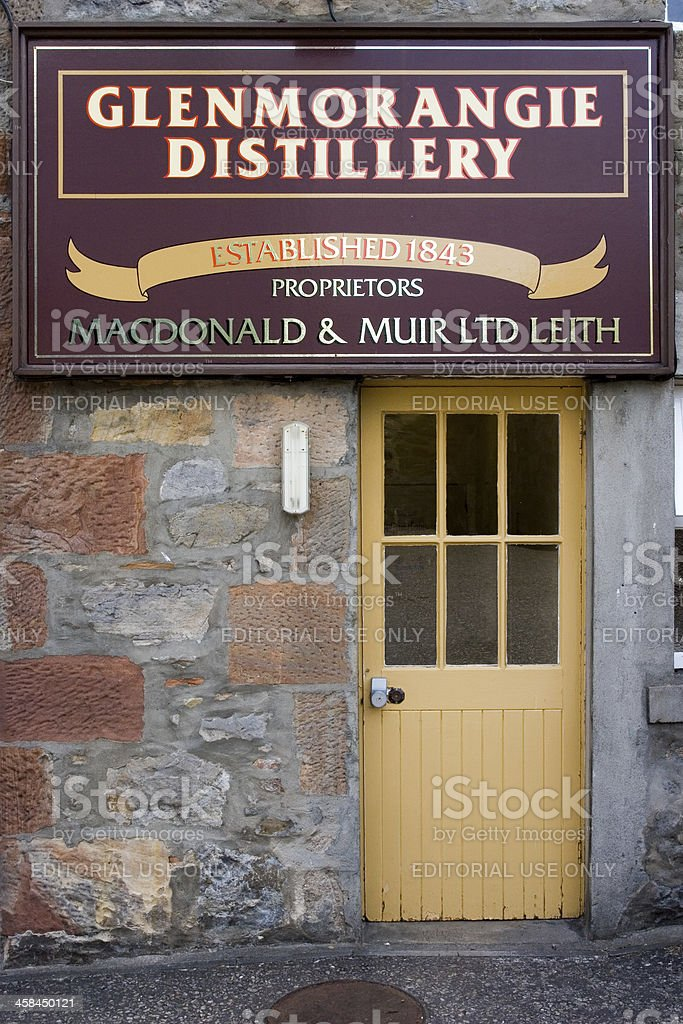 Glenmorangie Distillery entrance stock photo