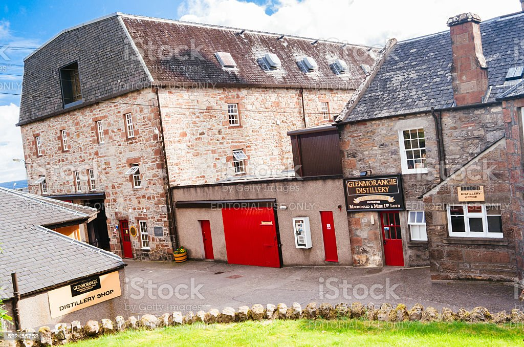 Glenmorangie Distillery, Scotland. stock photo