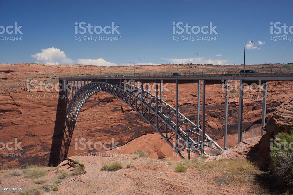 Glenn Canyon Bridge stock photo