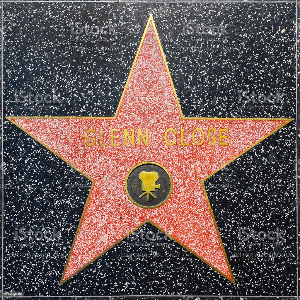 Glenn zamyka Gwiazda w Hollywood Walk of Fame zbiór zdjęć royalty-free