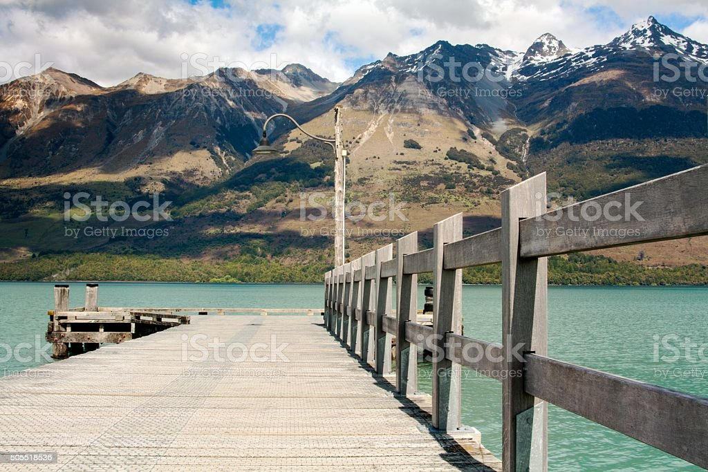 Glenorchy Pier stock photo
