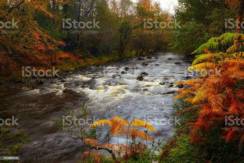 glensaul river tourmakeady stock photo