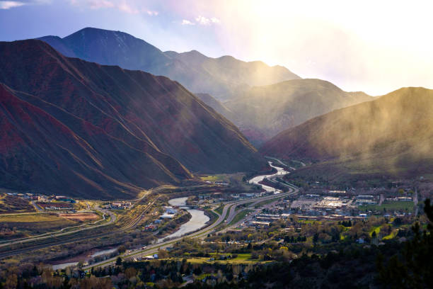 Glenwood Springs Stormy Landscape View stock photo