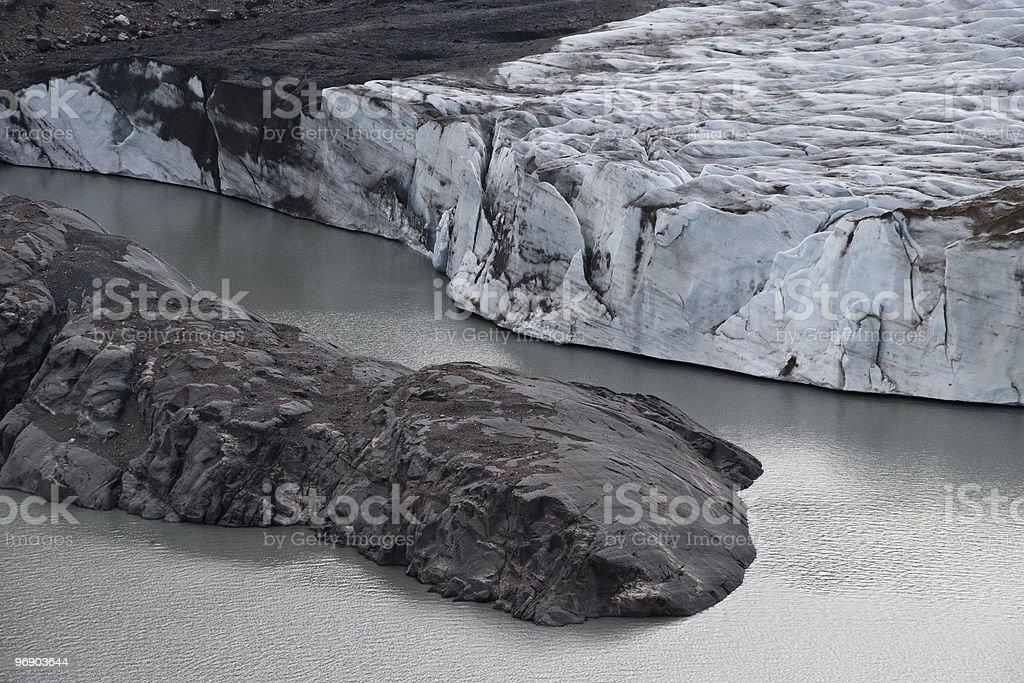 Gletscher am Cerro Torre royalty-free stock photo