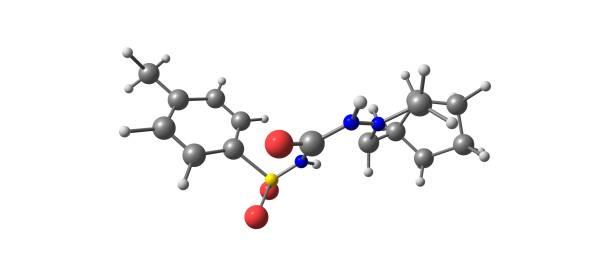 Gliclazide molecular structure isolated on white – zdjęcie
