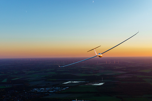 Glider in the sunset