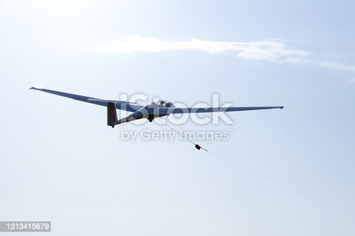 Glider in the take-off phase