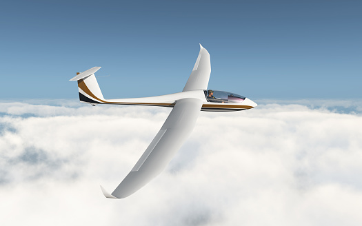 Glider over the clouds