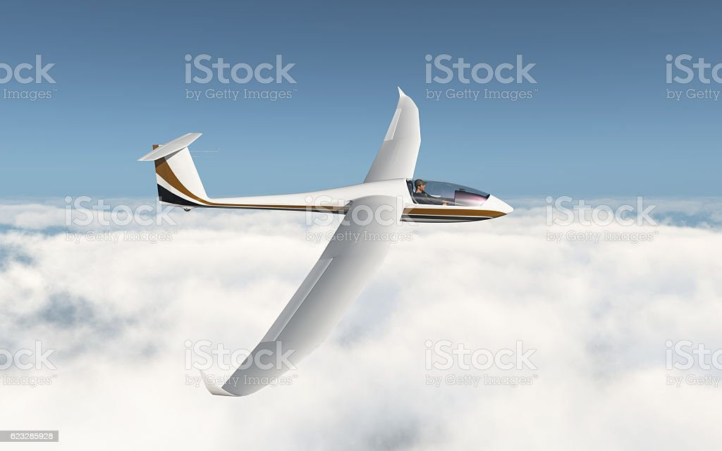 Glider over the clouds - foto stock