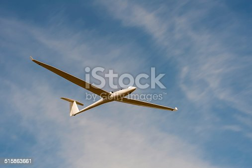 A glider against a blue sky
