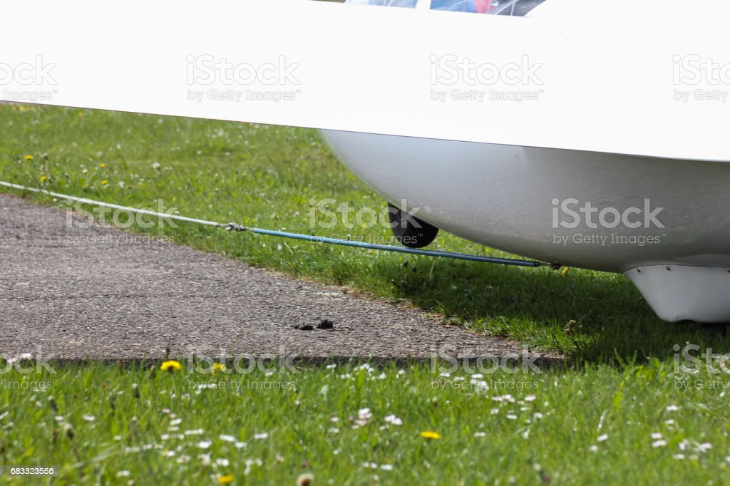 glider winch start 2 royalty-free stock photo