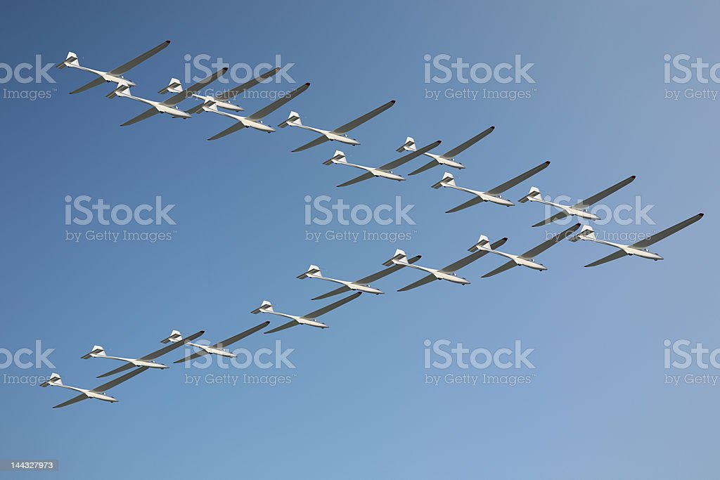 Gliders Heading South stock photo