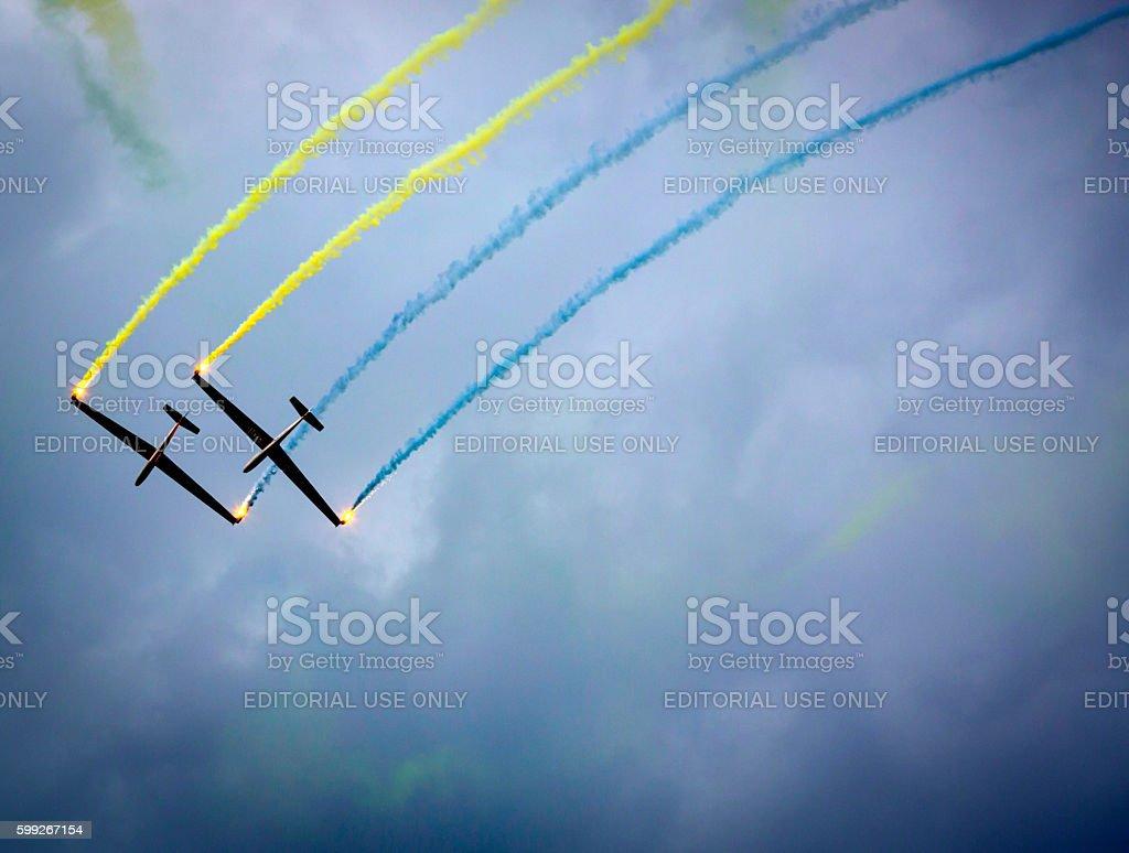 gliders stock photo