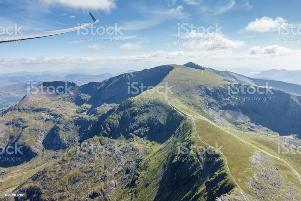 Gliding in North Wales stock photo