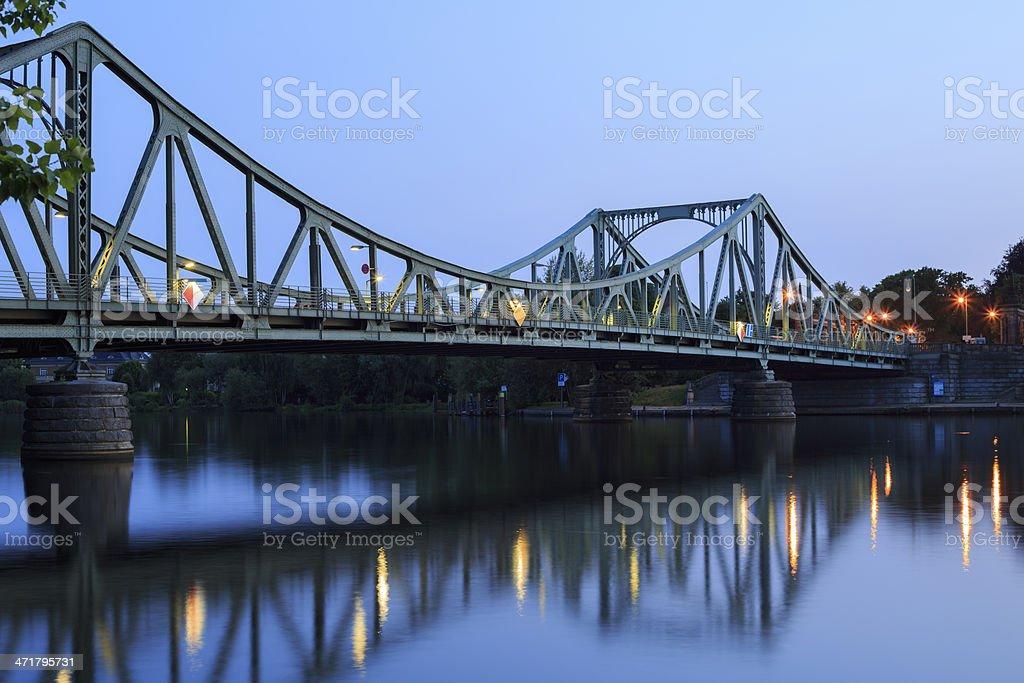 Glienicker bridge in the evening royalty-free stock photo