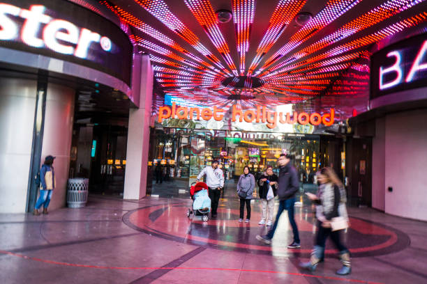 A Glimpse At Las Vegas Miracle Mile Shops Stock Photo