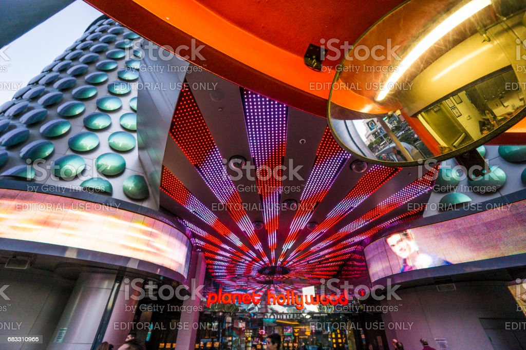 A glimpse at Las Vegas Miracle Mile Shops. foto stock royalty-free