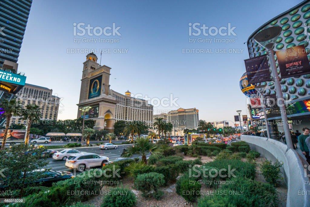En inblick i några av Las Vegas berömda hotell. royaltyfri bildbanksbilder