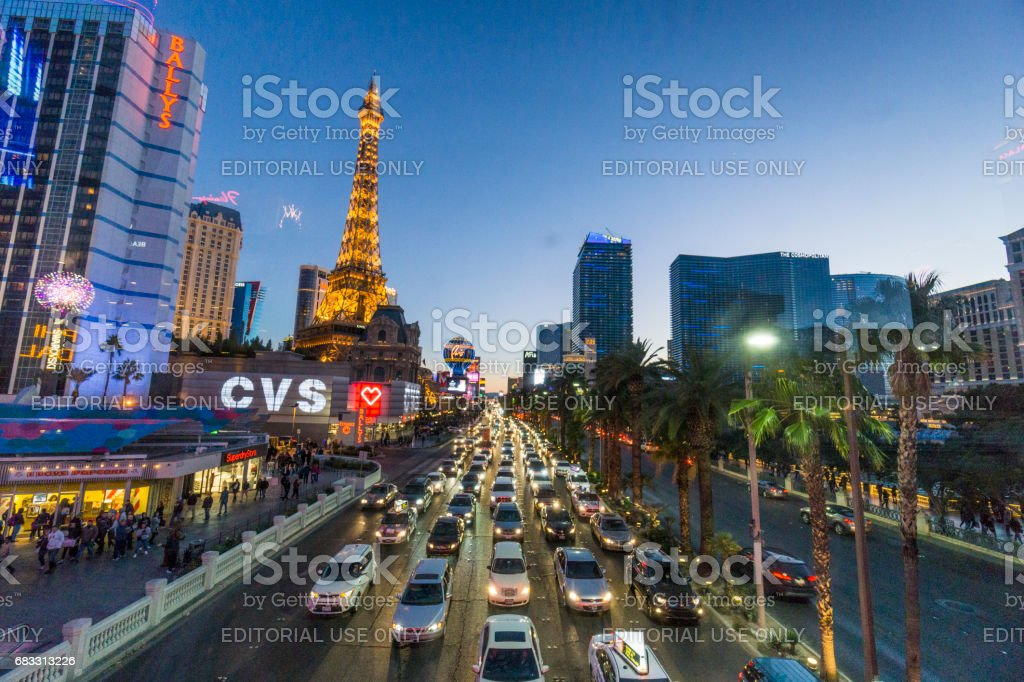 A glimpse at some of Las Vegas famous hotels. foto stock royalty-free