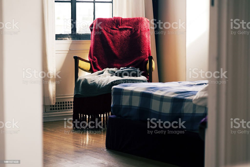 Glimpse into the Bedroom royalty-free stock photo