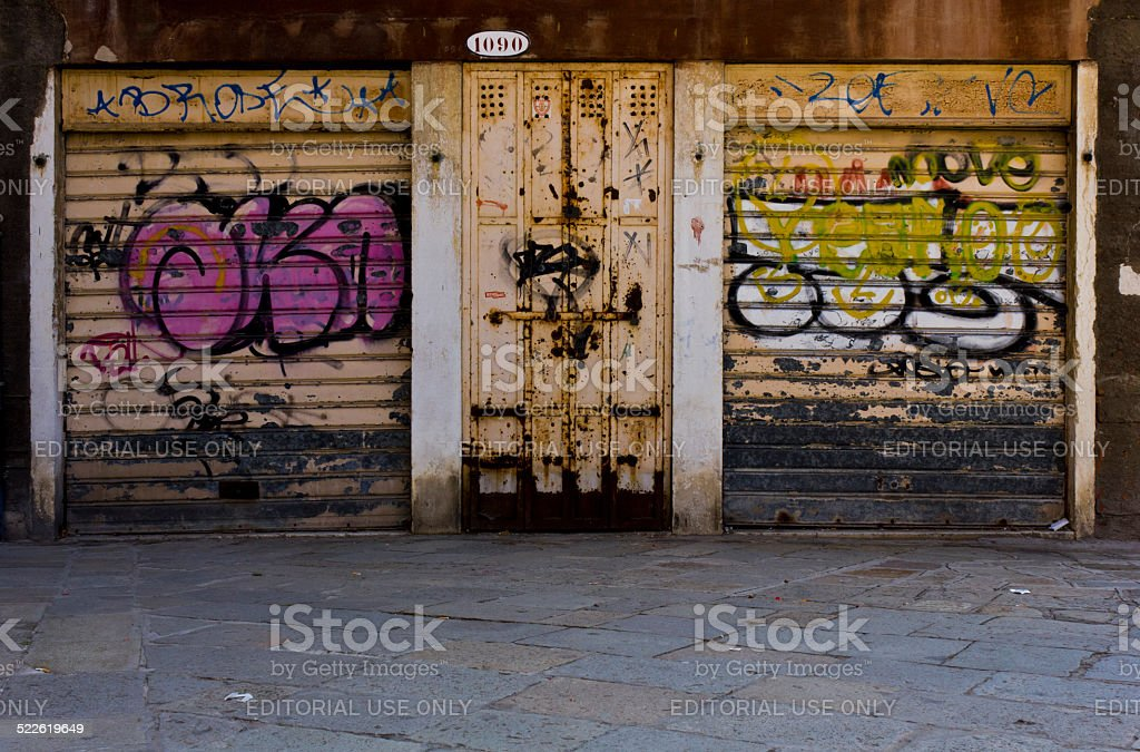 Glimpse of an unknown Venice. stock photo