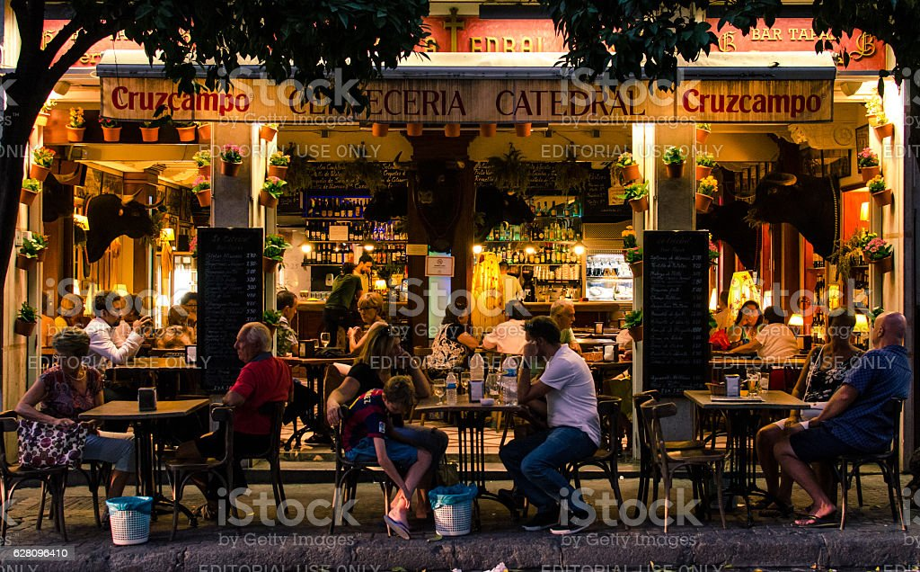 Glimpse of Andalusia stock photo