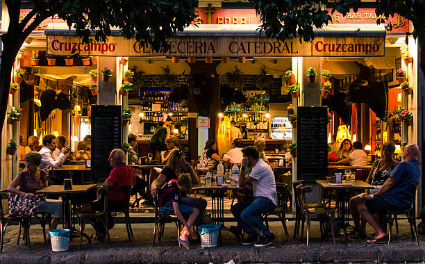 glimpse of andalusia - spanish food stock photos and pictures