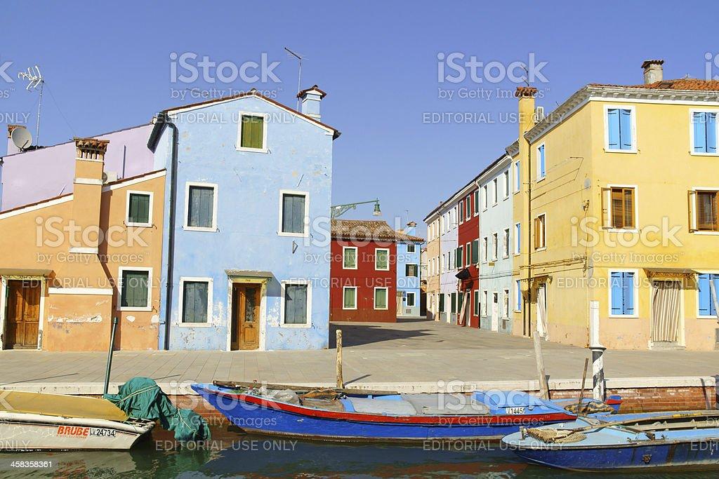 Glimpse of Burano Island, Venice royalty-free stock photo
