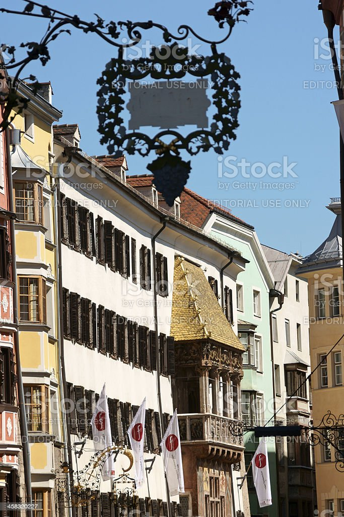 Glimpse of downtown Innsbruck royalty-free stock photo