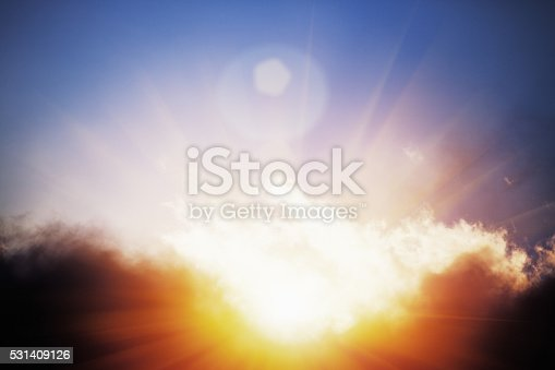 istock Glimpse of Heaven: sun breaking through storm clouds 531409126