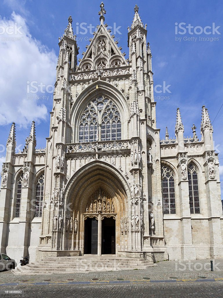 Église Notre Dame du Sablon, Brussels. royalty-free stock photo