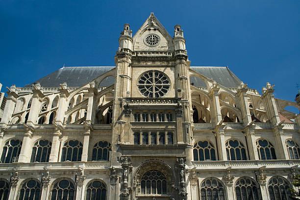 l'église di sant'eustachio parigi - saint eustache church foto e immagini stock