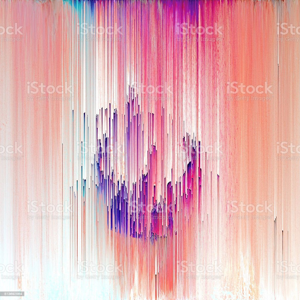 Glitch Art Abstract Digital Graphic Element royalty-free stock photo
