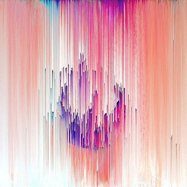 Glitch Arte abstracto Digital elemento gráfico - foto de stock