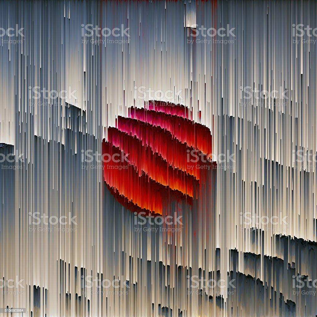 25e96a439 Glitch Arte abstracto Digital elemento gráfico foto de stock libre de  derechos