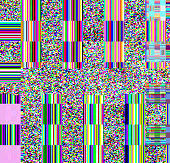 Glitch Psychedelic Background Old Tv Screen Error Digital Pixel