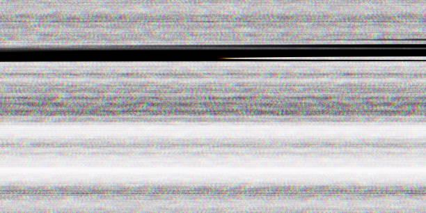결함 스크린 잡음 텍스처입니다. 아무 신호 디스플레이입니다 없습니다. 나쁜 Tv 라인입니다. 스톡 사진