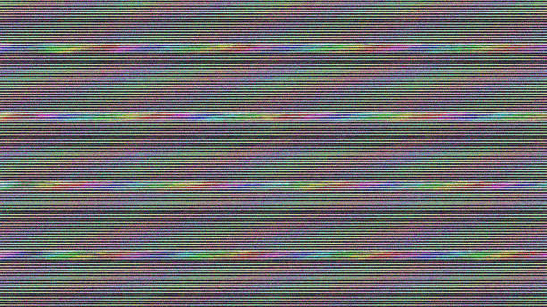 glitch tv screen. abstract background. digital illustration - distorted image stock pictures, royalty-free photos & images