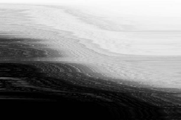 glitch vhs monochtome noise abstract,  technology. - distorted image stock pictures, royalty-free photos & images