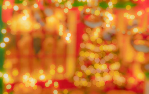 Glitter abstract Christmas bokeh defocused background stock photo