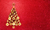 Glitter And Baubles In Christmas Tree