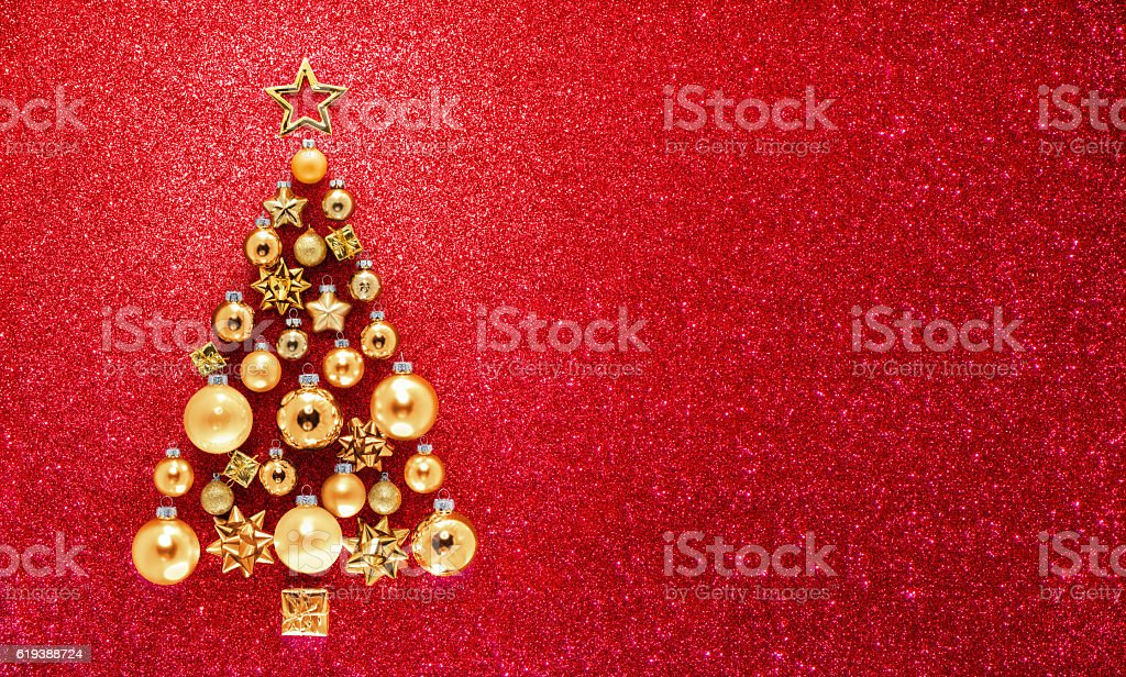 Glitter And Baubles In Christmas Tree - Photo