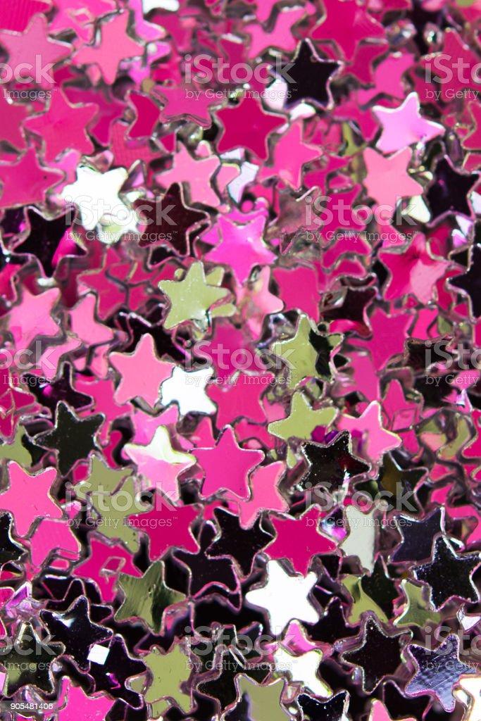 Glitter Background Pink Sequins Texture Shimmering Effect
