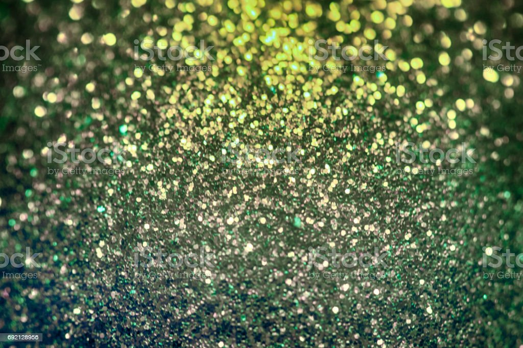 Glitter christmas background, shiny texture, Gold and green sparkle background stock photo